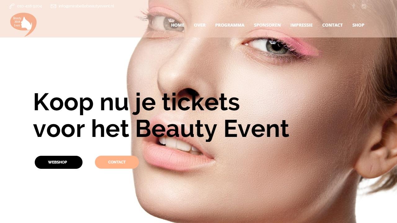 Actie website Beauty Event 2018