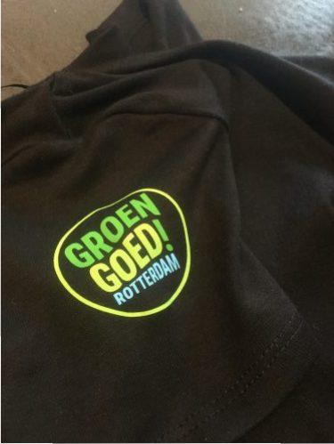 T-shirt bedrukking Groen Goed!